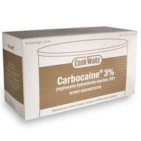 Carbocaine® 3%, Mepivacaine HCI, Box of 500 (Septodont) *FREE Shipping by Pricenex*