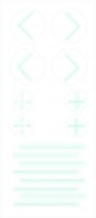 PortalMark Labels Skin Marker PM-200: PortalMark Combination Sheet for darker skin surfaces (50 sheets per box) Suremark