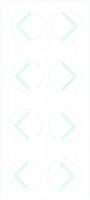 PortalMark Labels Skin Marker PM-225: PortalMark Corner Sheet for darker skin surfaces (50 sheets per box) Suremark