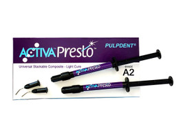 Activa Presto Universal Composite A2 Syringes 2x1.2ml Kit (Pulpdent)