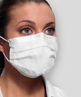 Earloop Mask ASTM Level 3 Ultra Sensitive No Fog Strip White 40/bx (Crosstex)