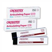 Articulating Paper Thick/Blue 12pk Books (Crosstex)