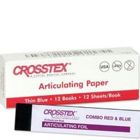 Articulating Paper Red/Blue 12pk Books ( Crosstex)