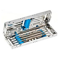 "Nordent Cassette, Small, Stainless Steel, 5 Instruments, Blue, 3"" X 8"""