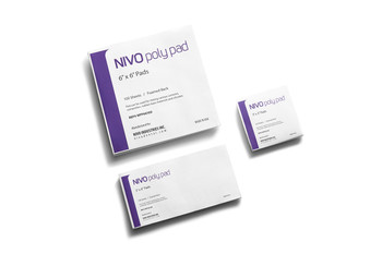"""NIVO Poly Pads, Mixing Poly Pads, 3""""x3"""", Non-Skid, Package of 100."""