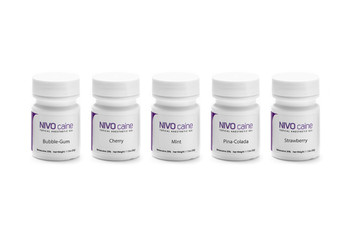 NIVO Caine, Strawberry, Topical Anesthetic Gel, Benzocaine, 1oz Jar.