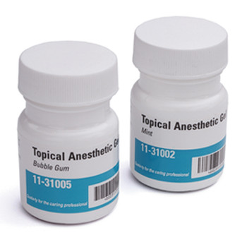 Topical Gel, Mint Flavor, Anesthetic Benzocaine 20%, 1oz Jar.