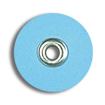"Sof-Lex Discs, Superfine 3/8"", Pop-On, Light Blue, Package of 85."