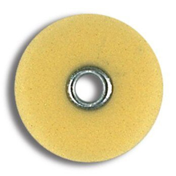 """Sof-Lex XT, Extra Thin , Discs, Superfine 3/8"""", Pop-On, Polyester Film, Yellow, Package of 85."""