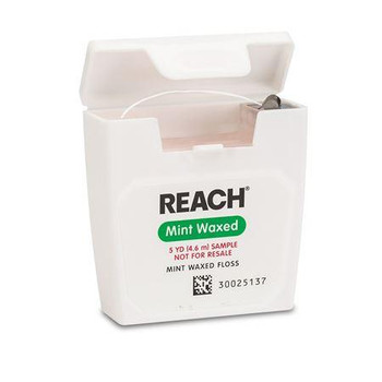 Reach Floss  Mint Waxed, Trial Size, 5 Yards, Package of 144.