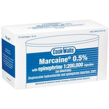 Marcaine® 0.5% W/EPI 1:200,000 Box of 50 (1852557) (Septodont)