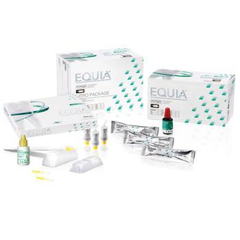 Equia, Shade A1 Intro Kit, Box of 48 Capsules, 1 Equia Coat bottle (4 ml), 1 GC Cavity Conditioner bottle (5.7 ml). Self-Adhesive Posterior Restorative.