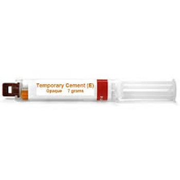 Temporary Cement, Automix, Eugenol, Opaque, 7gm Syringe, Package of 1.