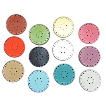 Large Round Bur Block, Neon Tangerine, Magnetic, fits 28 Burs.