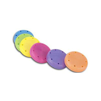 Small Round Bur Block, Neon Purple, Magnetic, fits 7 burs.