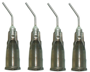 Pre-Bent Applicator, 22 gauge Gray, Needle Tips, used for Sealant, Package of 100.