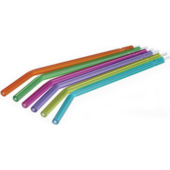 Disposable  Syringe Tips, Crystal Tips Type, Assorted Colors, Bag of 250 Air and Water Tips.