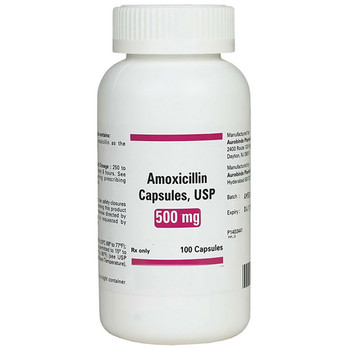 Amoxicillin 500 mg Capsules, Bottle of 100  - Short Dated June 2021