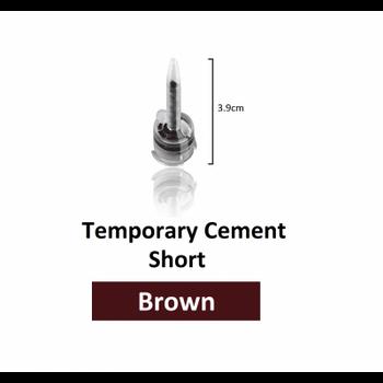 DX-Mixer Tips, Short Brown (3.9 cm Length), 1:1 Ratio, 2.5 mm Inner Diameter, Pack of 50.