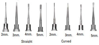 4 mm Straight Luxating Elevator, Stainless Steel Handle.