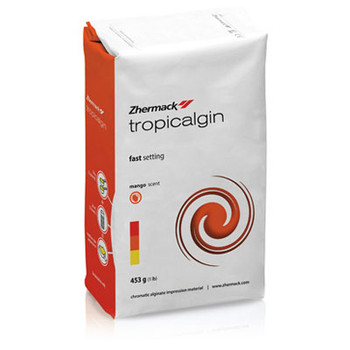 Tropicalgin Thixotropic Dust Free Alginate, 1 Lb. Bag. Color Changing, Fast Set. (Zhermack)**Free Shipping**