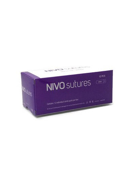 "Nivo Suture 3-0, 27"" Silk Black Braided, C-6/FS2 Needle, Box of 12."