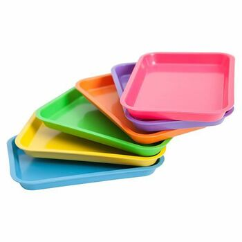 Nivo Dental Set-up Tray Flat Size B (Ritter) - Pink