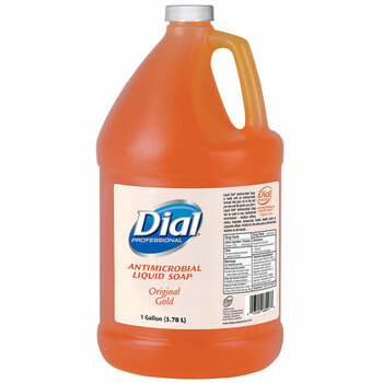 Dial Gold Antimicrobial Liquid Soap, 1 Gallon.