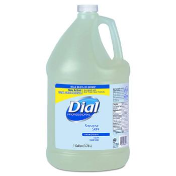 Dial Antibacterial/Antimicrobial Liquid Soap for Sensitive Skin, 1 Gal Bottle.