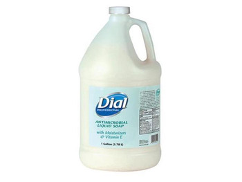 Dial Antimicrobial Liquid Soap with Moisturizers and Vitamin E, 1 Gal Bottle.