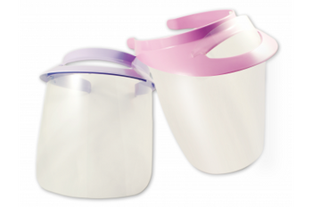 Face Visor & Shield, Pink Kit with 2 shields
