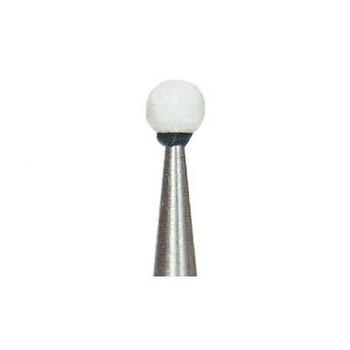 Dura-White RD1 round CA (contra angle), 12/pk, aluminum oxide finishing stones, 0227 (Shofu)
