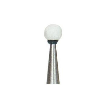 Dura-White RD1 round FG (friction grip), 12/pk, aluminum oxide finishing stones, 0247 (Shofu)