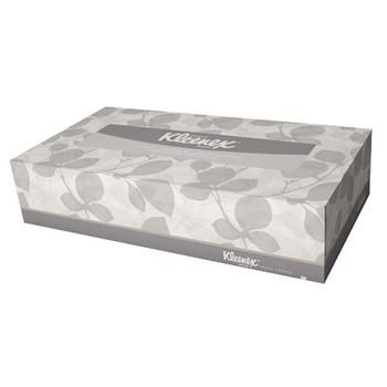 """Kleenex White 2 ply Facial Tissues 9"""" x 8"""", 100 Tissues"""