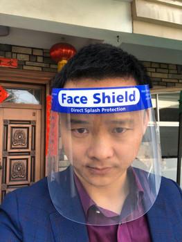 Nivo Full Face Shield Visor Mask with Foam Forehead Band and Elastic Strap, 10/Pk *Free Shipping*