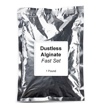 Alginate, Fast Set, Chromatic, Color-changing, & Dustless, 1lb. Bag.