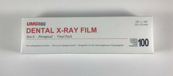 UMG X-Ray Film, DS-53, Size #0, Pedo Double, D-Speed, Box of 100.