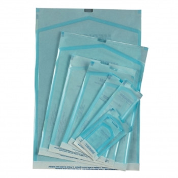 "Sterilization Pouches, 2.75"" x 10"", Color Changing Indicator, Box of 200."