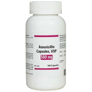 Amoxicillin 500mg Capsules, Bottle of 500.