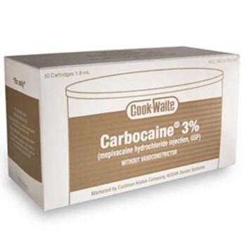Carbocaine® 3% (Mepivacaine HCI) Box of 50 (Septodont)