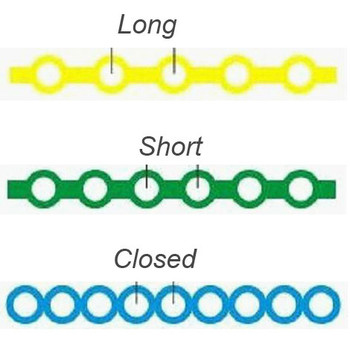 Nivo Power Chain Elastic Latex Free Short Cyan(3) 15 ft/Roll