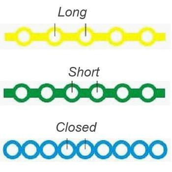 Nivo Power Chain Elastic Latex Free Short Red(23) 15 ft/Roll