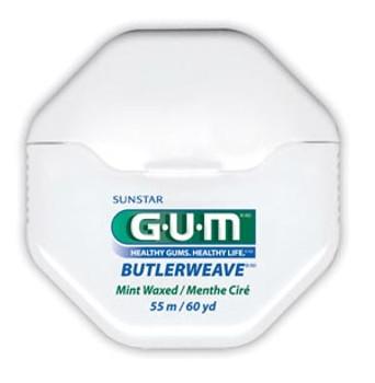 ButlerWeave® Floss, Waxed, Mint, 60 yds, 12/bg