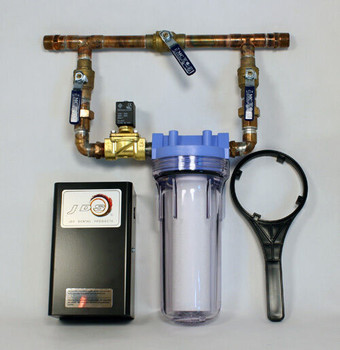 """Water Bypass System, Water Filter w/ Solenoid WBP34 (3/4"""")"""