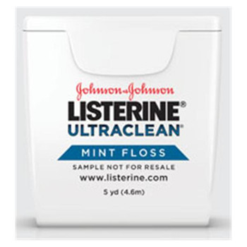 Dental Floss Listerine Ultraclean Mint Floss 5 yards 72pk (J&J)