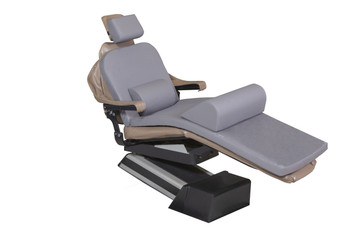 "MediPosture Dental Chair Overlay System w/4"" Classic Memory Headrest, Gray"