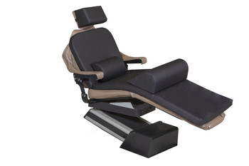 "MediPosture Dental Chair Overlay System w/6"" Classic Geriatric Memory Headrest, Black"