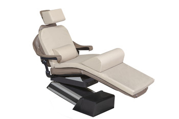 "MediPosture Dental Chair Overlay System w/6"" Classic Geriatric Memory Headrest, Beige"
