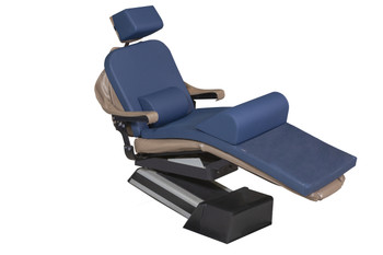 "MediPosture Dental Chair Overlay System w/6"" Classic Geriatric Memory Headrest, Navy"