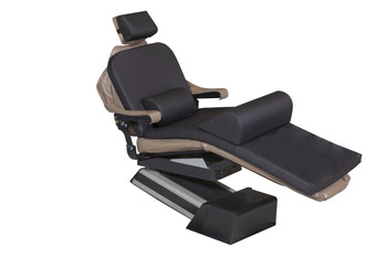 "MEDIPOSTURE Dental Chair Overlay System w/4"" ICORE MEMORY HEADREST Black"